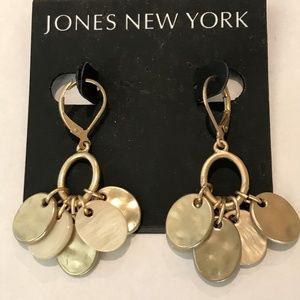 Jones New York Gold Dangles Leverback Earrings
